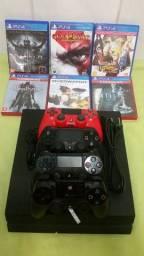 Vendo Playstation 4 funcionando perfeitamente com 04 controles e 6 jogos mídias física
