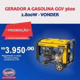 Título do anúncio: Gerador à Gasolina 2800W GGV3100 110V Vonder ? Entrega grátis