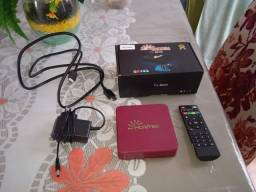 TV Box Hontek completo na caixa