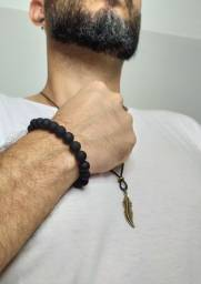 Kit masculino colar e pulseira