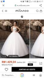 Título do anúncio: Vestido de noiva ou 15 anos