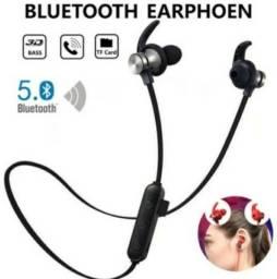 Fone de ouvido Bluetooth TF Magnético