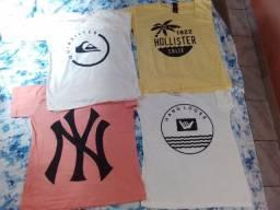 Kit de 4 camisas estampas masculina varias cores e tamanhos