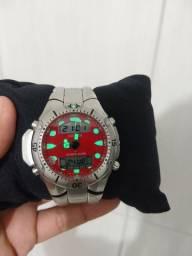 Relógio citizen Aqualand JP vermelho estado de novo