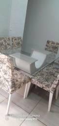 Mesa vidro 6 cadeiras