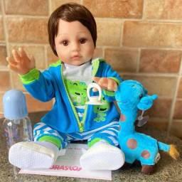 Título do anúncio: Lindo Bebê Reborn Menino Realista todo em Silicone Novo (aceito cartão )