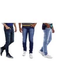 Kit 3 Calças Jeans Masculina Slim Elastano Preço Atacado<br><br>