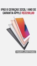 iPad 8 Geraçao 32GB, 1 Ano de Garantia, Pronta Entrega
