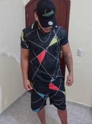 Título do anúncio: Kit masculino camisa + bermuda