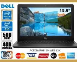 Título do anúncio: Notebook Dell Inspiron Pentium, 4GB, HD500GB, Tela 15,6?, Novíss, Cx, NF, Gar, Troco!