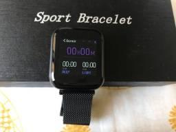Smartwatch Relógio Inteligente Fitness Aço P80 Oled Pro Touch Full