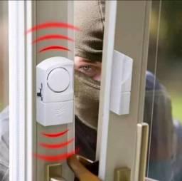 Alarme Residencial Magnético para Portas e Janelas sem Fio C/ Sirene