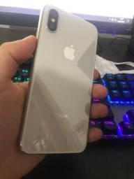 Iphone X branco seminovo conservado