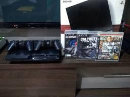 PS3 2 controles e 4 jogos parcelo