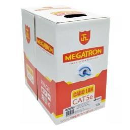 Cabo rede cat5e Azul - caixa com 305m Megatron - cobre - cabo de internet