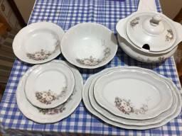 Aparelho de Jantar Schmidt Porcelana Eterna 23 Peças