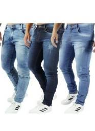 Kit 5 Calças Jeans Masculina Slim Elastano<br><br>