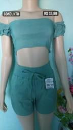 Título do anúncio: Conjunto de blusa + short