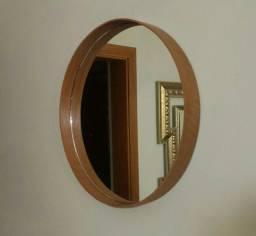 Título do anúncio: espelho 90 cm madeira natural