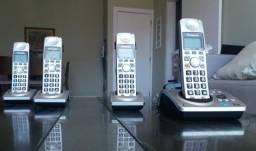 Telefone Fixo sem Fio 4 Ramais