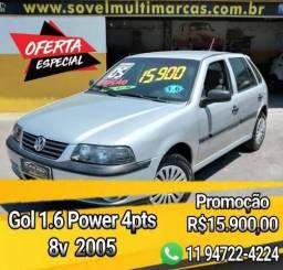 """Oferta! Gol 1.6 Power 8v Dir.Hidraulica """"Garantia e Procedência"""" - 2005"""