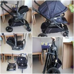 Carrinho e cadeira de bebe burigotto