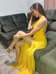 Vestido de festa amarelo ??