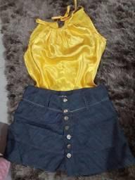 Conjunto de roupas femininas P