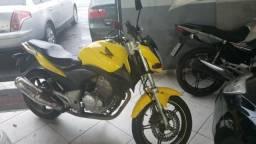 Honda cb 300 top amarela*placa i - 2012