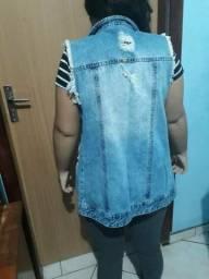 Colete jeans 25 reais