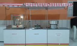 Vendo máquina de algodão doce e máquina de crepe usada