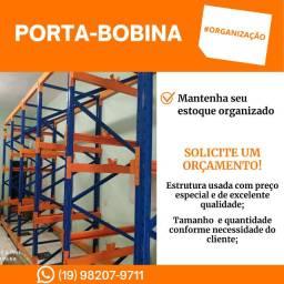 Porta-paletes (estrutura para armazenagem/estoque de material/produto)