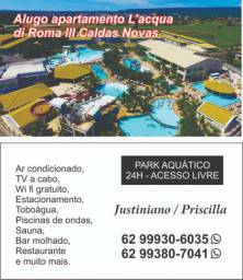 Aluguel locacao apartamento flet clube caldas novas l'aqua di roma 3