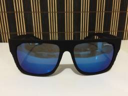 (Aceito cartão) Óculos solar unissex Quadrado - Lente: Azul espelhado da Chilli Beans
