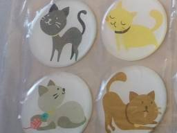 Adesivos Alto Relevo Gatos (Cartela com 4 unidades)