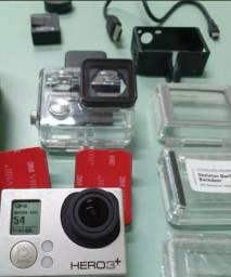 Gopro Hero3+ Silver + Tela Lcd + 2 Baterias + Acessórios