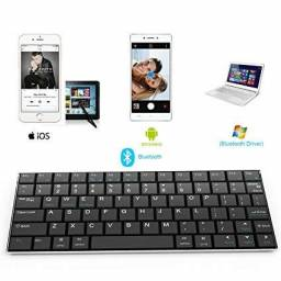 Teclado Bluetooth P/ Android Ipad Iphone Imac Macbook Pc Tablet