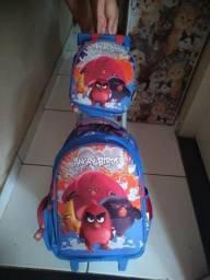 Mochila de carrinho+ lancheira Angry Birds