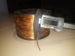 Fio de cobre esmaltado 1.0mm