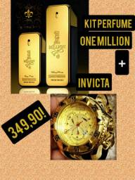 One Million perfume mais relojo Invicta!