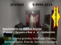 (R$150.000) Apartamento c/ 02 Quartos e Garagem, s/ condomínio - Ilha dos Araújos