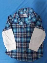 Camisa Carter's de botão 6meses