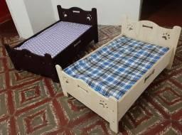 Cama Pet em madeira + colchão