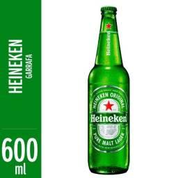 Título do anúncio: Vende -se Garafa de Vidro de 600ml Heinekem com 24 garafas
