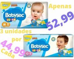 Fralda Babysec UltraSec Galinha Pintadinha XG e M
