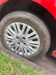 Rodas com os pneus