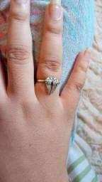 Anel feminino regulável usado de prata