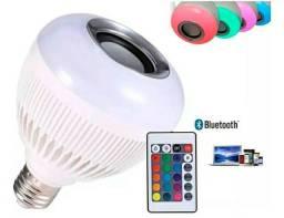 Lampada músical bluetooth caixa de som LED colorido