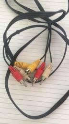 Adaptador/cabo audio auxiliar p2 x 2 rca macho