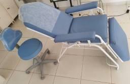 cadeira articulada para estetica com mocho